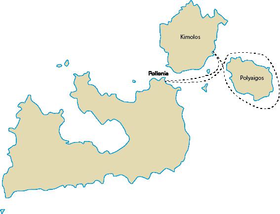 Milos poseidon Kimolos polyaigos